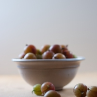 Mehlbeutel mit Stachelbeeren