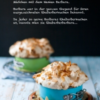 Rhabarber-Baiser Kuchen